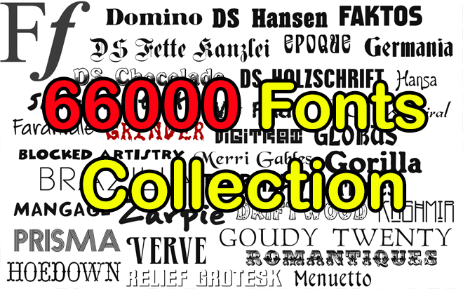 Download 66000 Professional Fonts Collection Library Pack + FREE ...